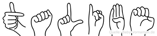 Talibe in Fingersprache für Gehörlose