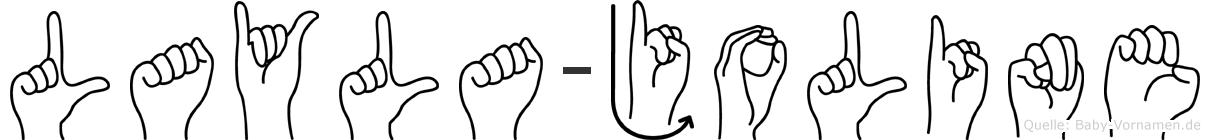 Layla-Joline im Fingeralphabet der Deutschen Gebärdensprache