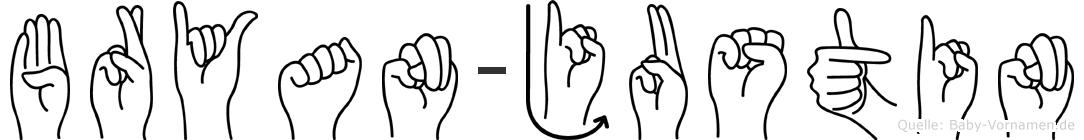 Bryan-Justin im Fingeralphabet der Deutschen Gebärdensprache