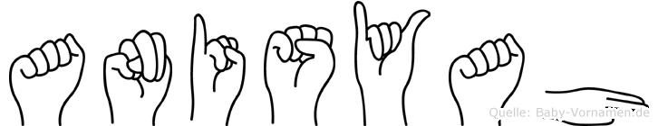 Anisyah im Fingeralphabet der Deutschen Gebärdensprache