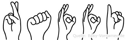 Raffi im Fingeralphabet der Deutschen Gebärdensprache
