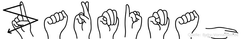 Zarminah im Fingeralphabet der Deutschen Gebärdensprache