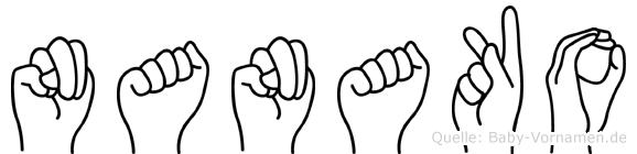 Nanako in Fingersprache für Gehörlose