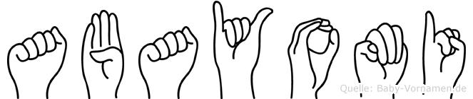 Abayomi in Fingersprache für Gehörlose