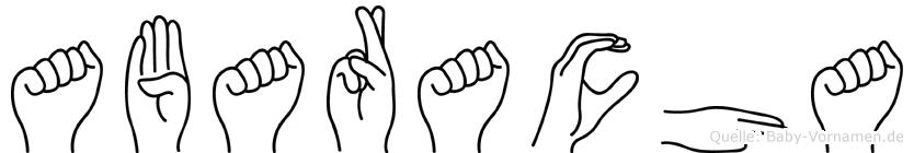 Abaracha in Fingersprache für Gehörlose