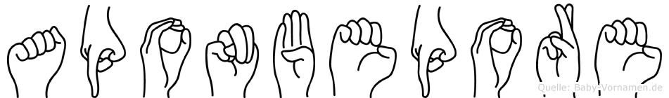 Aponbepore in Fingersprache für Gehörlose
