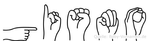 Gismo im Fingeralphabet der Deutschen Gebärdensprache