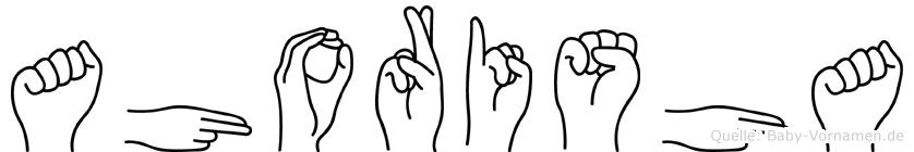 Ahorisha im Fingeralphabet der Deutschen Gebärdensprache