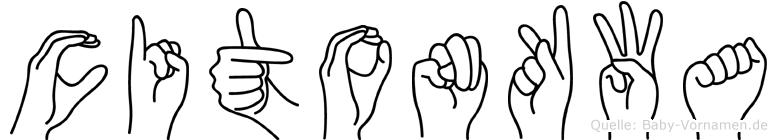 Citonkwa im Fingeralphabet der Deutschen Gebärdensprache