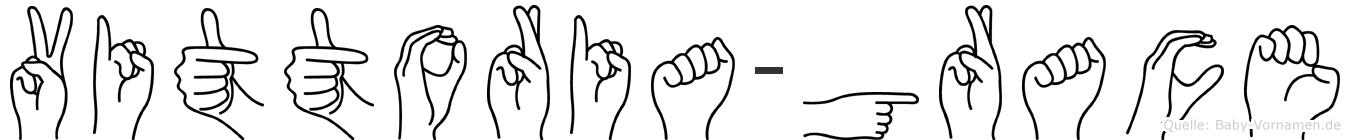 Vittoria-Grace im Fingeralphabet der Deutschen Gebärdensprache