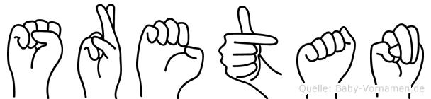 Sretan in Fingersprache für Gehörlose