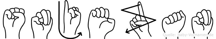 Snjezan in Fingersprache für Gehörlose