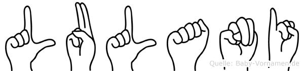 Lulani im Fingeralphabet der Deutschen Gebärdensprache