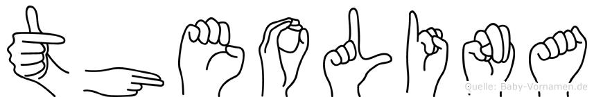 Theolina im Fingeralphabet der Deutschen Gebärdensprache