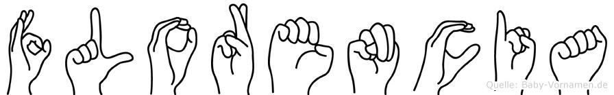 Florencia im Fingeralphabet der Deutschen Gebärdensprache