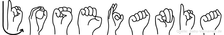 Josefania im Fingeralphabet der Deutschen Gebärdensprache