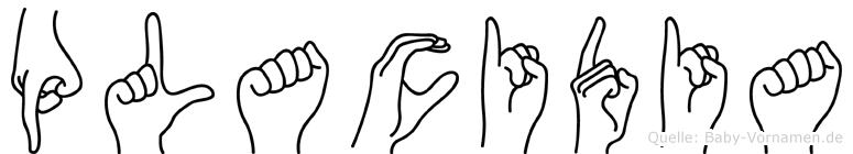 Placidia in Fingersprache für Gehörlose