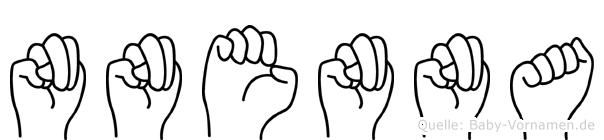 Nnenna in Fingersprache für Gehörlose