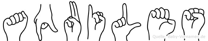 Aquiles in Fingersprache für Gehörlose
