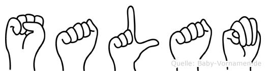 Salam in Fingersprache für Gehörlose