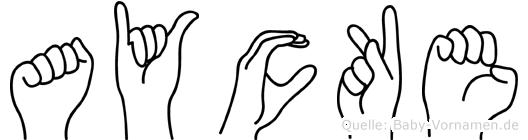 Aycke in Fingersprache für Gehörlose
