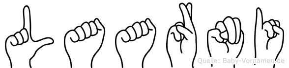 Laarni in Fingersprache für Gehörlose