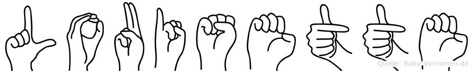 Louisette in Fingersprache für Gehörlose