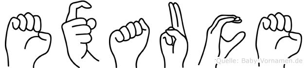 Exauce in Fingersprache für Gehörlose