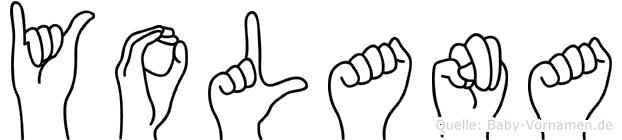 Yolana in Fingersprache für Gehörlose