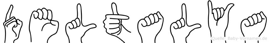 Deltalya in Fingersprache für Gehörlose