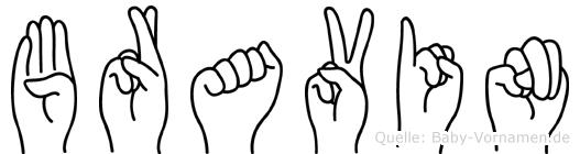 Bravin in Fingersprache für Gehörlose
