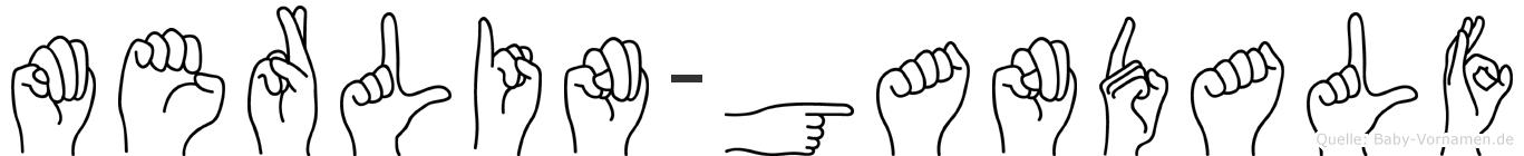 Merlin-Gandalf im Fingeralphabet der Deutschen Gebärdensprache