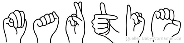 Martie in Fingersprache für Gehörlose