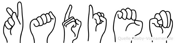 Kadien im Fingeralphabet der Deutschen Gebärdensprache