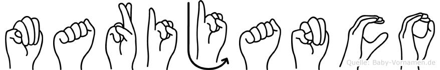 Marijanco in Fingersprache für Gehörlose