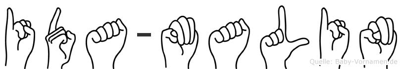 Ida-Malin im Fingeralphabet der Deutschen Gebärdensprache