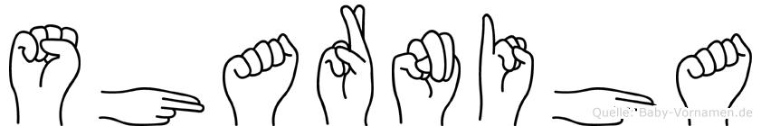 Sharniha in Fingersprache für Gehörlose