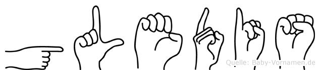 Gledis in Fingersprache für Gehörlose