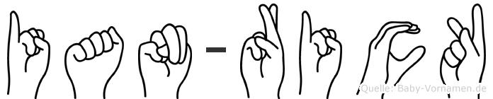 Ian-Rick im Fingeralphabet der Deutschen Gebärdensprache