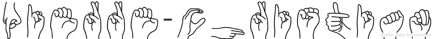 Pierre-Christian im Fingeralphabet der Deutschen Gebärdensprache