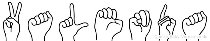 Valenda in Fingersprache für Gehörlose