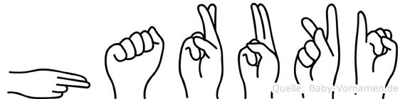 Haruki im Fingeralphabet der Deutschen Gebärdensprache