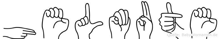 Helmute in Fingersprache für Gehörlose