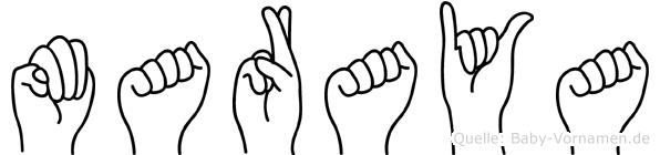 Maraya in Fingersprache für Gehörlose