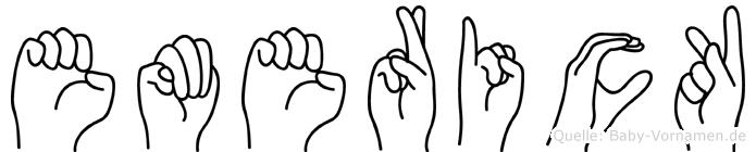 Emerick in Fingersprache für Gehörlose