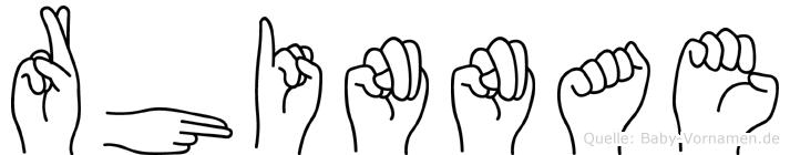 Rhinnae im Fingeralphabet der Deutschen Gebärdensprache