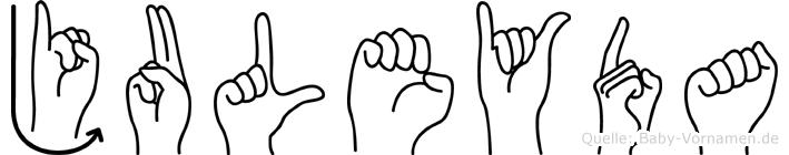 Juleyda in Fingersprache für Gehörlose