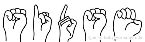 Sidse in Fingersprache für Gehörlose