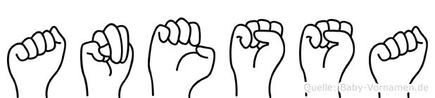 Anessa in Fingersprache für Gehörlose
