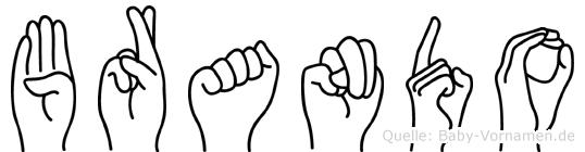 Brando im Fingeralphabet der Deutschen Gebärdensprache